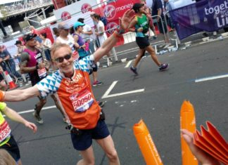 Simon Aldridge at the London Marathon